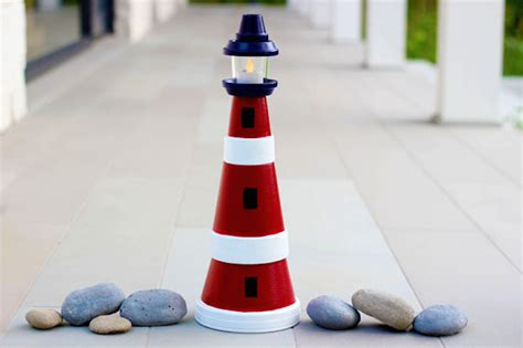 lighthouse craft project 10 terra cotta potter projects to spice up your garden