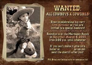 Cowboy Party Invites Free Printables » Home Design 2017