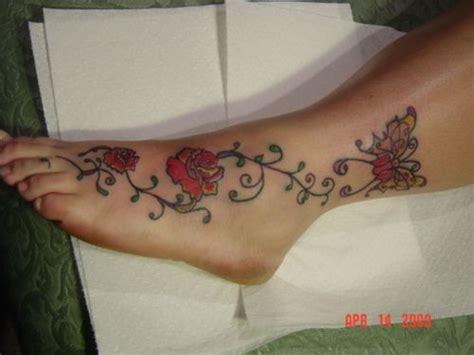 rose vine tattoos on leg fashion news wonderful flower designs