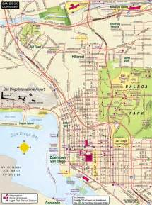 Map San Diego by San Diego Downtown Map