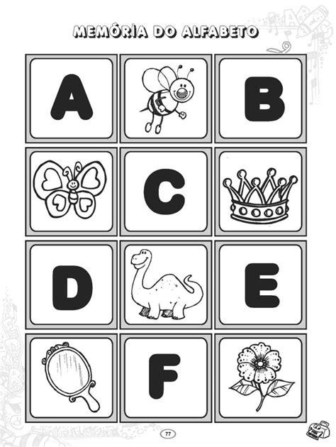 8 Jogos da Memória do Alfabeto para Imprimir - Educação