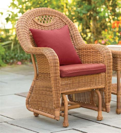 patio gliders prospect hill handwoven resin wicker outdoor