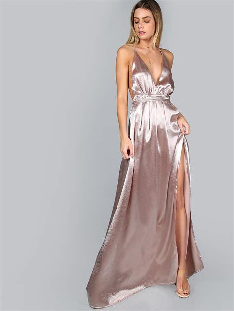 Dsbm223781 Pink Dress Dress Pink pink satin maxi dress