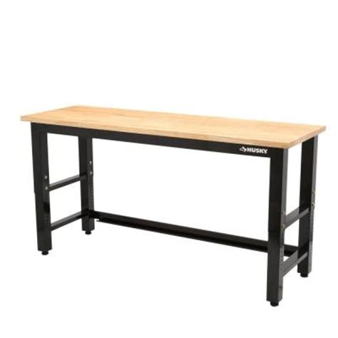 husky bench husky 6 ft solid wood top workbench g7200s us the home