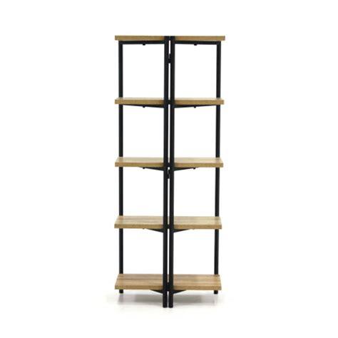 sauder avenue charter oak 5 shelf bookcase 422095