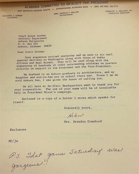 Endorsement Letter Bir Dear President Nixon Shug Had A Birthday