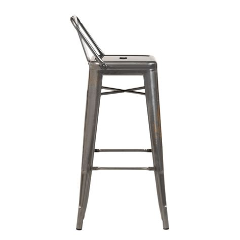 Metal Bar Stool With Backrest by Brushed Lix Bar Stool With Backrest Sklum United Kingdom