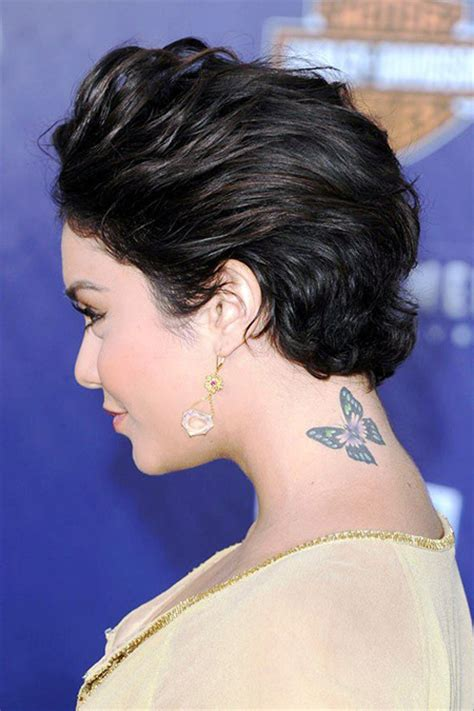 short hairstyles cut into the neck celebrities with short hair short hairstyles 2017 2018