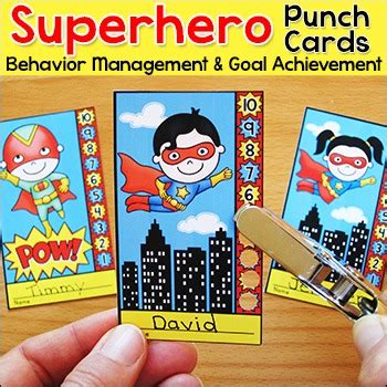 hero themes gallery manager superhero theme punch cards behavior management tool by