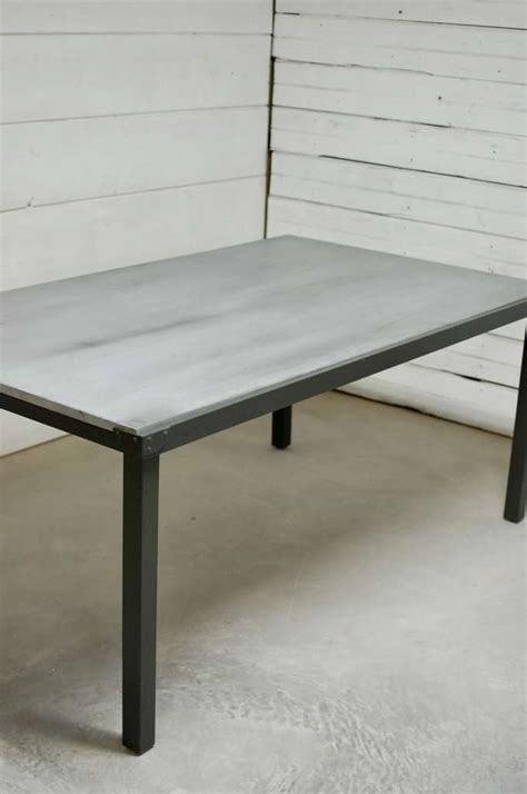 Zinc Top Dining Table Zinc Top Indoor Outdoor Dining Table Southern