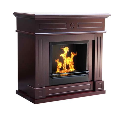 aztec bio ethanol mantel gas fireplace in brown buy