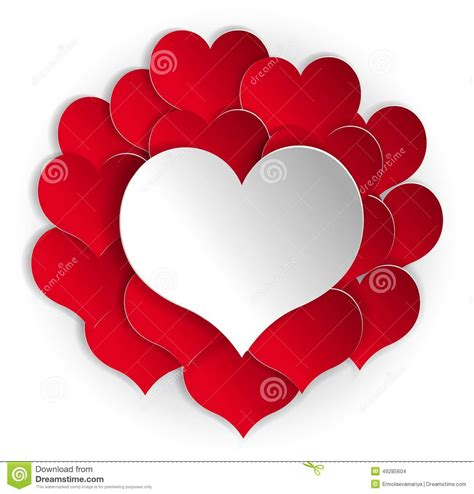 le coeur blanc fond de papier de coeurs avec le coeur blanc illustration de vecteur image 49285604