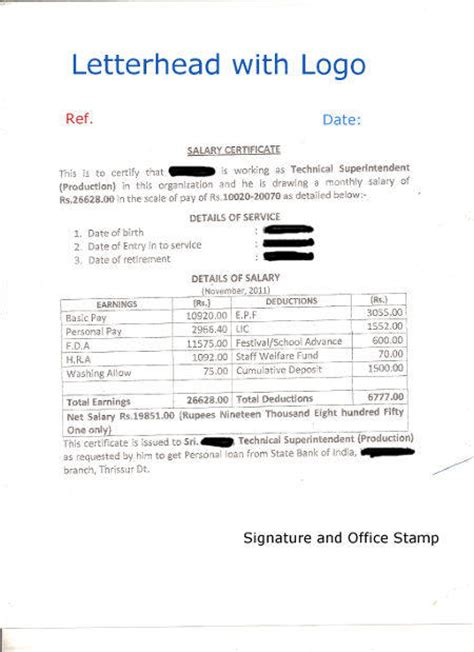 Income Certificate On Letterhead income certificate on letterhead 28 images letter of
