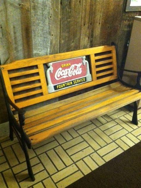 coca cola bench coca cola cast iron and wood park bench coca cola 8