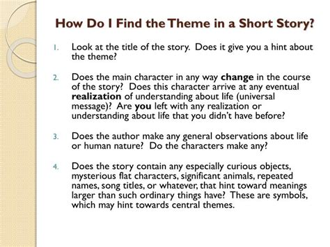 universal themes in short stories ppt process for finding and writing a correct statement