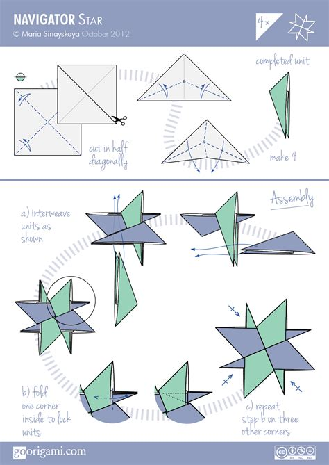 origami patterns pdf navigator by sinayskaya diagram go origami