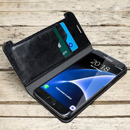 Samsung Galaxy S7 Edge Wallet Leather Armor Dompet Sarung Casing Mewah olixar leather style samsung galaxy s7 edge wallet stand