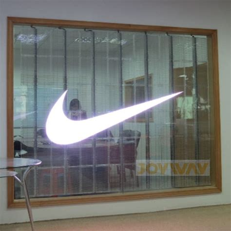led wall curtain transparent led glass window glass wall curtain led screen