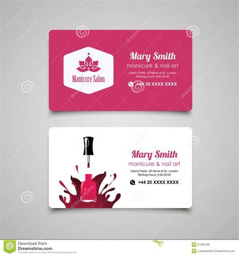 manicurist business card template manicure salon business card vector design templates set