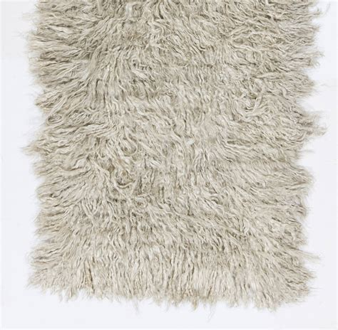 Mohair Rug plain ivory mohair quot tulu quot rug at 1stdibs