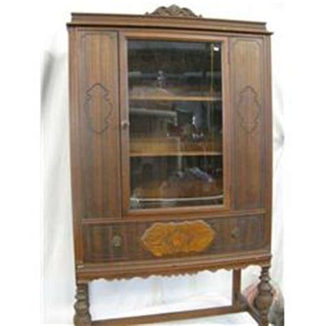 1920 s 30 s walnut china cabinet