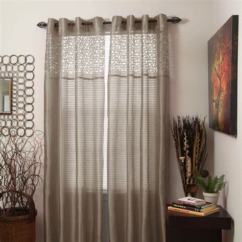 54 x 95 curtains lavish home monica grommet curtain panels 54 x 95 taupe
