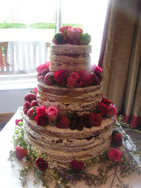 3 Tier 4 layer Victoria Sponge cake with vanilla bean