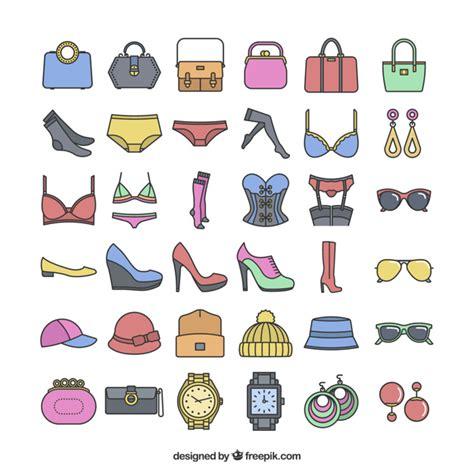 imagenes vectoriales para ai accesorios de moda ic 243 nicas descargar vectores gratis