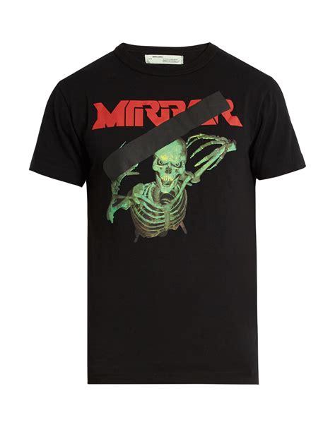 Skull The Shirt Roma Clothz lyst white c o virgil abloh skull mirror t shirt in