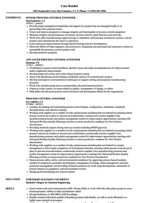 process control engineer sle resume distributor sle