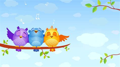 desktop themes cartoons cartoon bird hd wallpaper