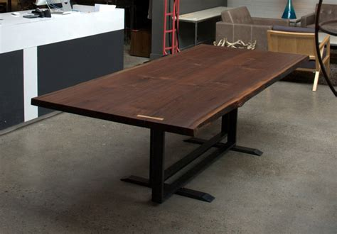black walnut dining table by cherrywood studio