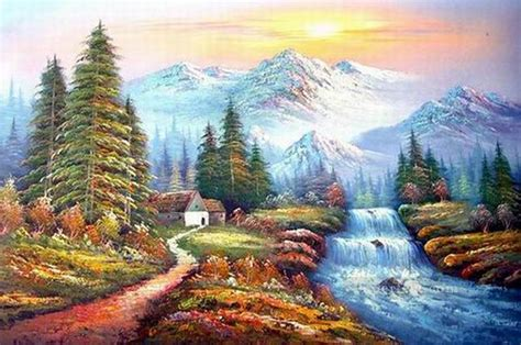 bob ross painting easiest cheap freehand 19 bob ross landscape painting in