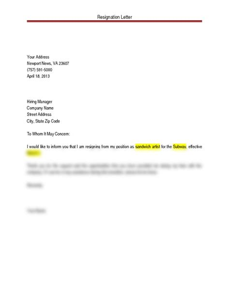 Letter Of Resignation Addressed To Whom Resignation Letter Doc Computer Applications With Lindell At Santa Fe Trail High School