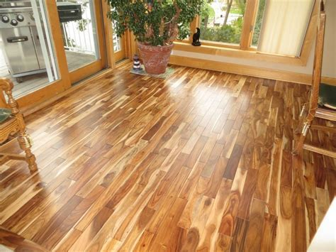 Prefinished Solid Blonde Asian Walnut Acacia Wood Hardwood
