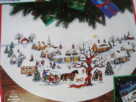 dimensions counted cross tree skirt craft kit christmas