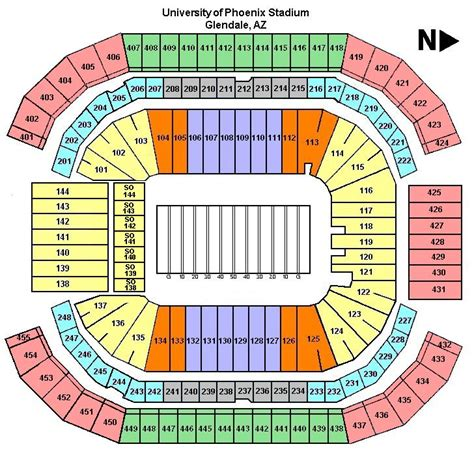 arizona cardinals seating chart prices aztickets bowl tickets tickets for bowl