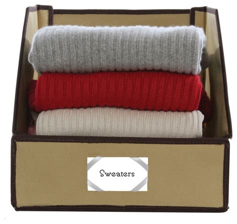 closet organizer bins sweater bins brown contemporary closet organizers