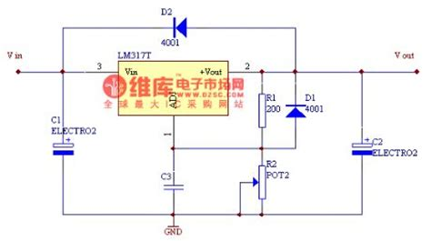 integrated circuits voltage regulator lm317 integrated voltage regulator circuit basic circuit circuit diagram seekic