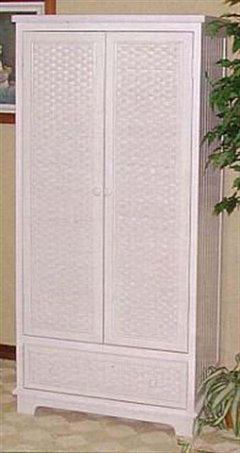 White Wicker Wardrobe by Wicker Org Wicker Furniture Wardrobe Armoire Chifferobe