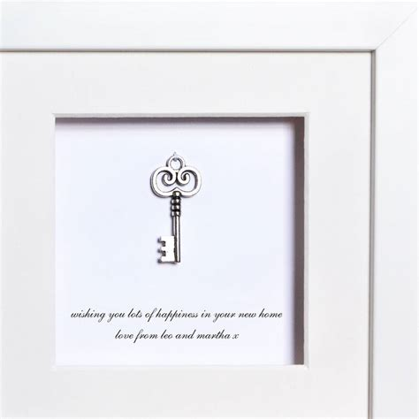 personalised key to a new home box frame by twenty seven