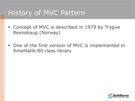 mvc pattern history asp net mvc as the next step in web development