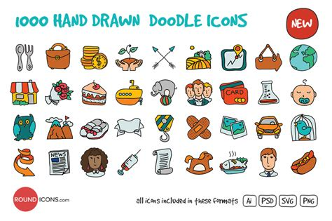 doodle draw icon pack show your creativity with these 18 doodle icons sets