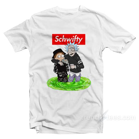 Tees Supreme Premium Quality With Tag trendy supreme style rick morty get schwifty t shirt trendstees