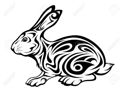 rabbit tribal tattoo 10 rabbit designs sles and ideas