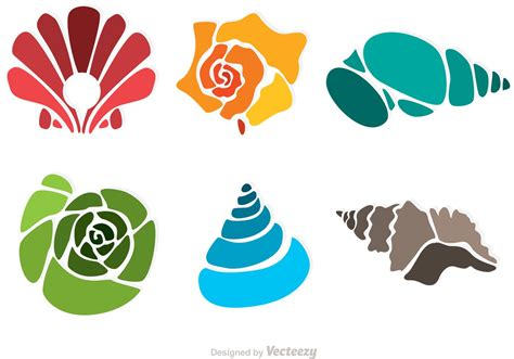 free clipart graphics colorful sea shell vectors free vector