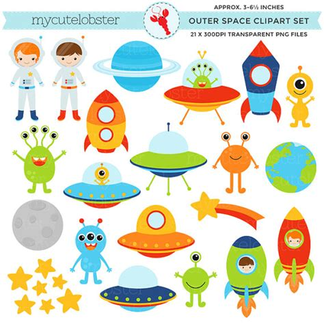 Outer Personal Style P S outer space clipart set clip of aliens spaceships
