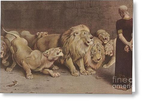daniel in the lions den painting by motionage designs