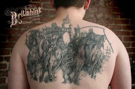 four horsemen of the apocalypse tattoo four horsemen by britishink d c tattoos