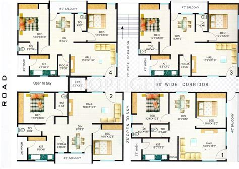 2 bhk flat design plans 1225 sq ft 2 bhk 2t apartment for sale in hari hara